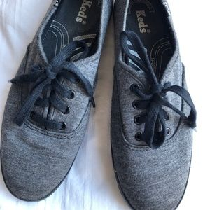 KEDS Grey Iconic Canvas Shoes